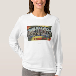Escanaba, Michigan - Large Letter Scenes T-Shirt