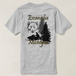 Escanaba Michigan Snowmobile Bear SS Grey T-Shirt