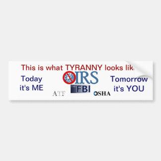 Escándalo 2013 del IRS Pegatina Para Auto