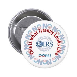 Escándalo 2013 del IRS Pin Redondo 5 Cm