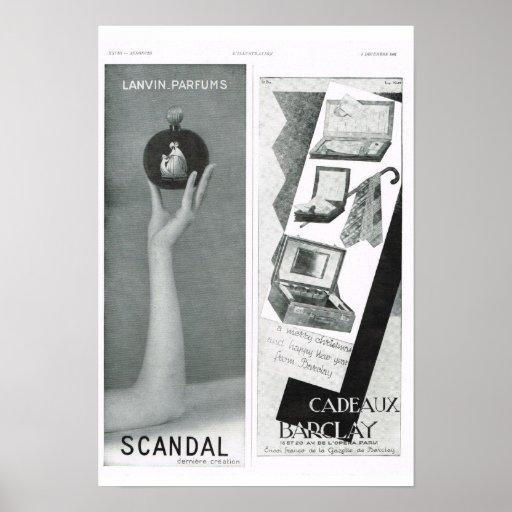 Escándalo; Cadeaux Barclay Impresiones