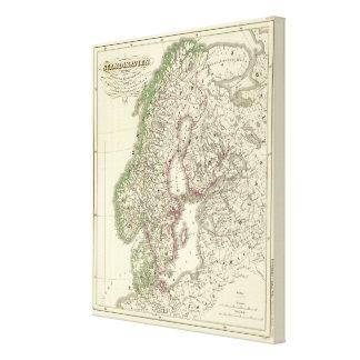 Escandinavia hasta la paz de Friedrichshamm Impresión En Lona