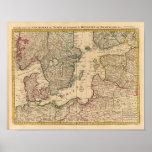 Escandinavia, mar Báltico, Suecia, Dinamarca Posters