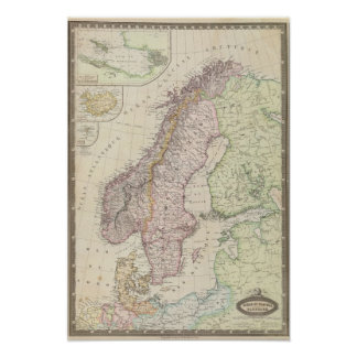 Escandinavia, Suecia Póster