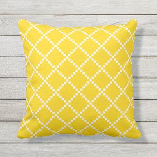 Escandinavo al aire libre amarillo Patte de las Cojín Decorativo