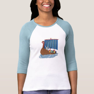 Escandinavo de la nave de Viking del sueco T-shirt