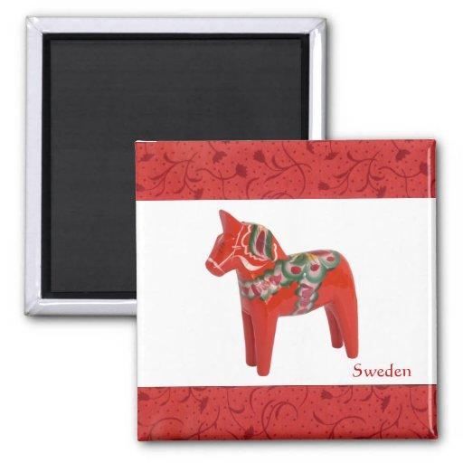 Escandinavo del caballo de Dala del sueco Imán Cuadrado
