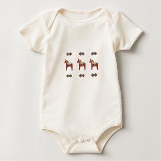 Escandinavo del caballo de Dala del sueco Traje De Bebé
