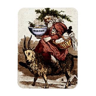 Escandinavo Santa y imán de la cabra del navidad