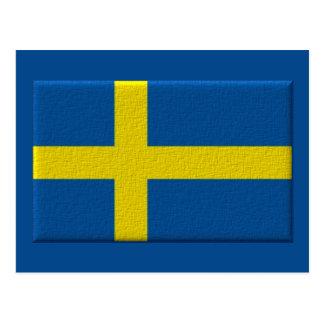 Escandinavo sueco de la bandera tarjetas postales