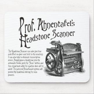 Escáner de Headstone de profesor Ahnentafel Alfombrillas De Raton