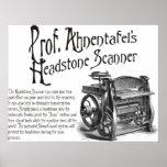 Escáner de Headstone de profesor Ahnentafel Posters