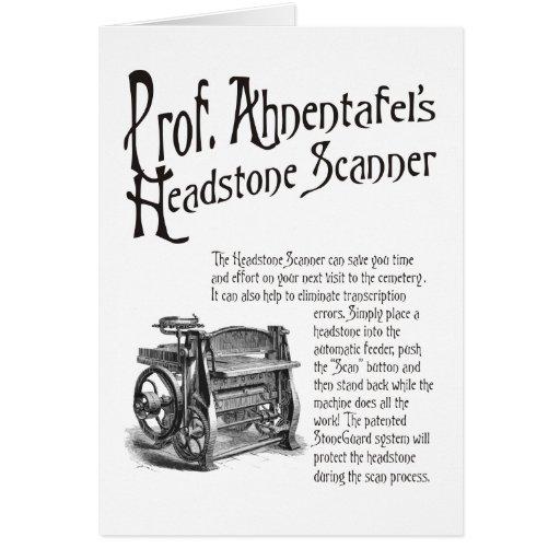 Escáner de Headstone de profesor Ahnentafel Felicitación