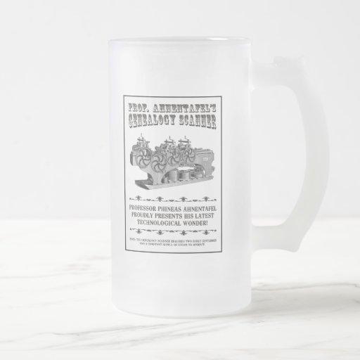 Escáner de la genealogía tazas de café
