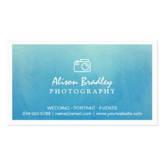 Escaparate azul de la foto del boda de la acuarela tarjetas de visita