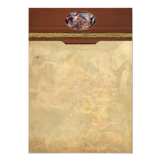 Escaparate - el mercado del té y de la especia del invitación 12,7 x 17,8 cm