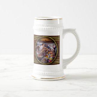 Escaparate - el mercado del té y de la especia del jarra de cerveza