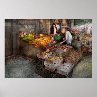 Escaparate - Hoboken, NJ - selección de la fruta f Póster