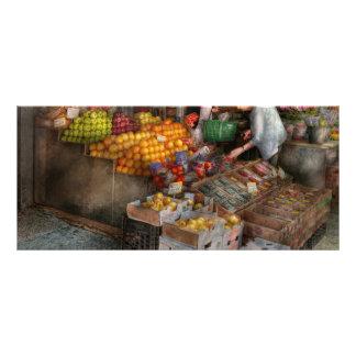 Escaparate - Hoboken NJ - selección de la fruta f Plantilla De Lona