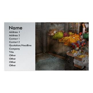 Escaparate - Hoboken, NJ - selección de la fruta Tarjetas De Visita