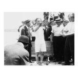 Escape 1912 de la caja de Harry Houdini del mago Postal