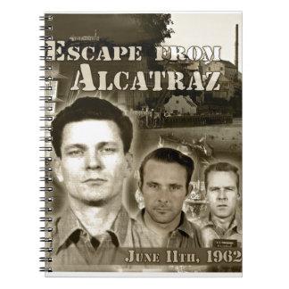 Escape 1962 de Alcatraz - de Morris y de Anglins Libreta Espiral