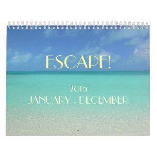"""""""ESCAPE"""" 2015 CALENDAR/ SKY/SEA/SUN"""