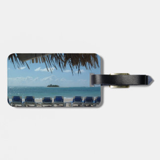 Escape a la etiqueta del equipaje de la playa etiqueta para maleta
