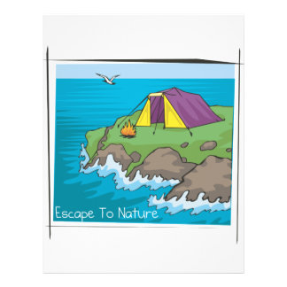 """Escape a la naturaleza folleto 8.5"""" x 11"""""""