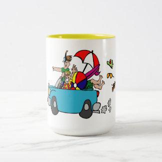 Escape a la playa tazas de café