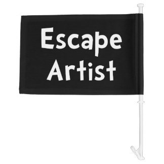 Escape Artist Car Flag