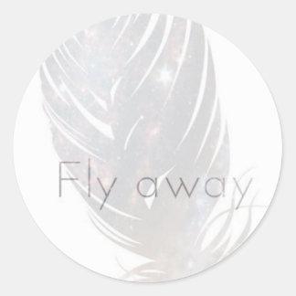Escape Away Classic Round Sticker