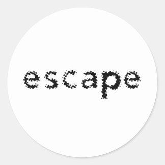 Escape Classic Round Sticker