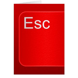 Escape Computer Button Greeting Card
