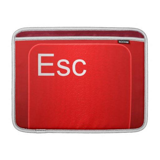 Escape Computer Button Macbook Sleeve