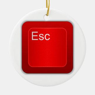 Escape Computer Button Ornament