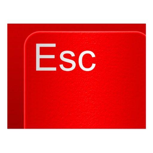 Escape Computer Button Postcard