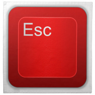 Escape Computer Key Napkins