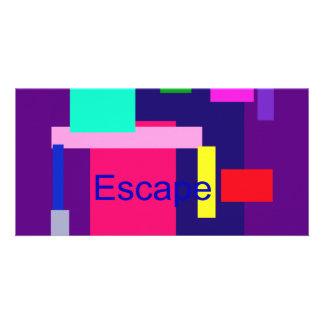 Escape Dark Magenta Photo Greeting Card