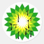Escape de aceite de BP Pegatina Redonda
