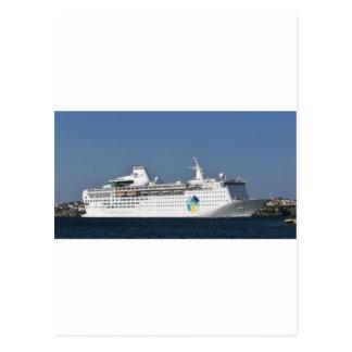 Escape de la isla del revestimiento marino tarjeta postal