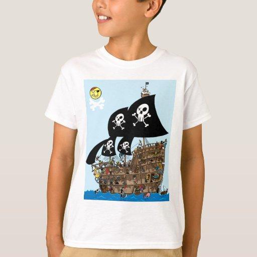 Escape del barco pirata playera