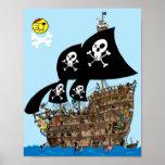 Escape del barco pirata posters