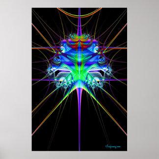 Escape del fractal posters