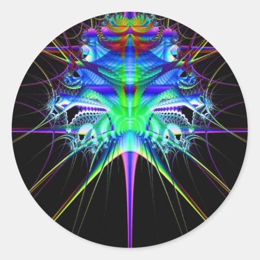 Escape del fractal pegatina redonda
