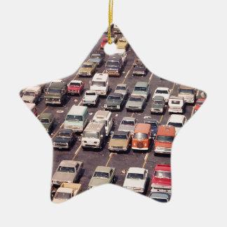 Escape el an o 80 del verano - aparcamiento adorno navideño de cerámica en forma de estrella