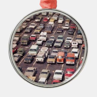 Escape el an o 80 del verano - aparcamiento adorno navideño redondo de metal
