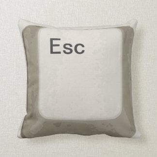 Escape el botón/la llave - blanco/gris cojin