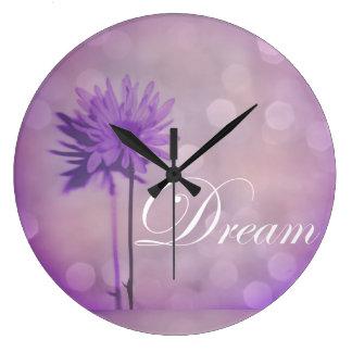 Escape Everyday Life and Dream in Lavender Purple Wall Clock