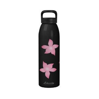 Escape floral rosado botellas de agua reutilizables